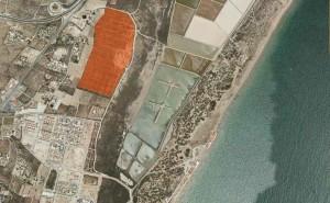Ubicación  en rojo de la parcela donde se autoriza el camping