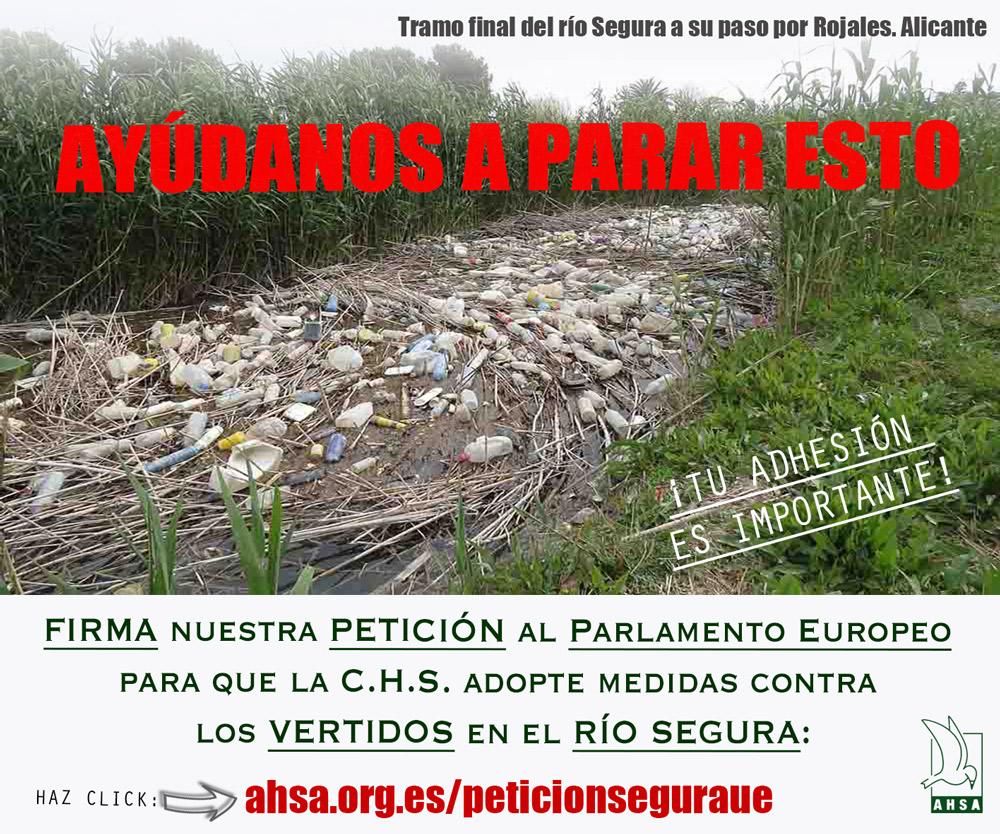 Plasticos Segura petición europea